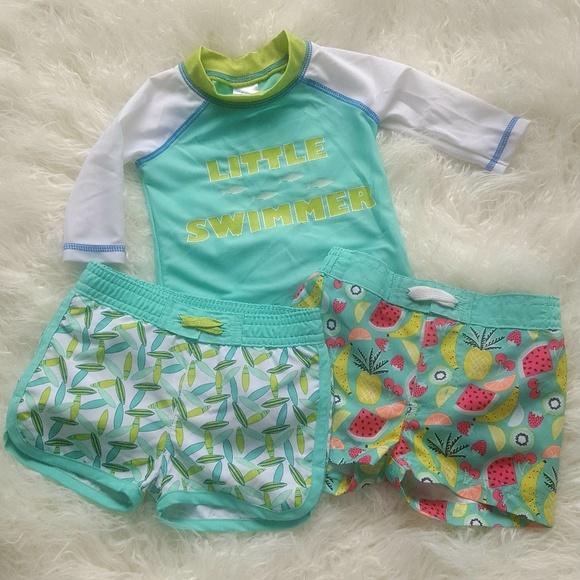 d0e11f1058 Cat & Jack Swim | Target Baby Boy Trunks Rash Guard 69 M | Poshmark